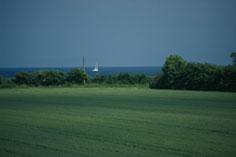 Blick vom Balkon bis zur Ostsee