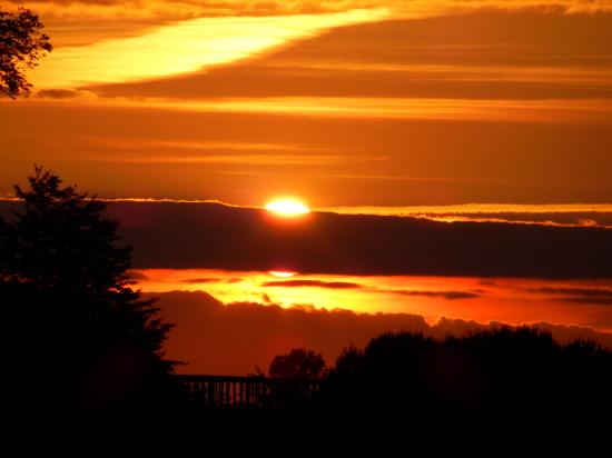 Sonnenuntergang gegen 23 Uhr