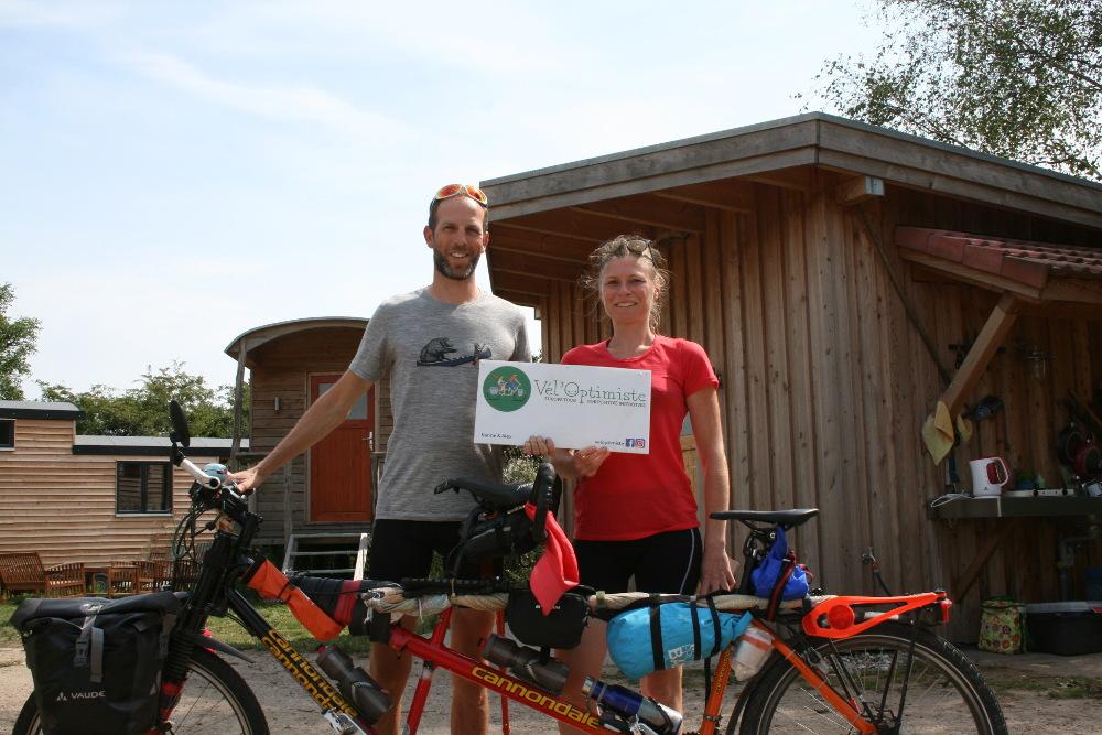 Mit dem Fahrrad auf der Suche nach positiven Nachrichten