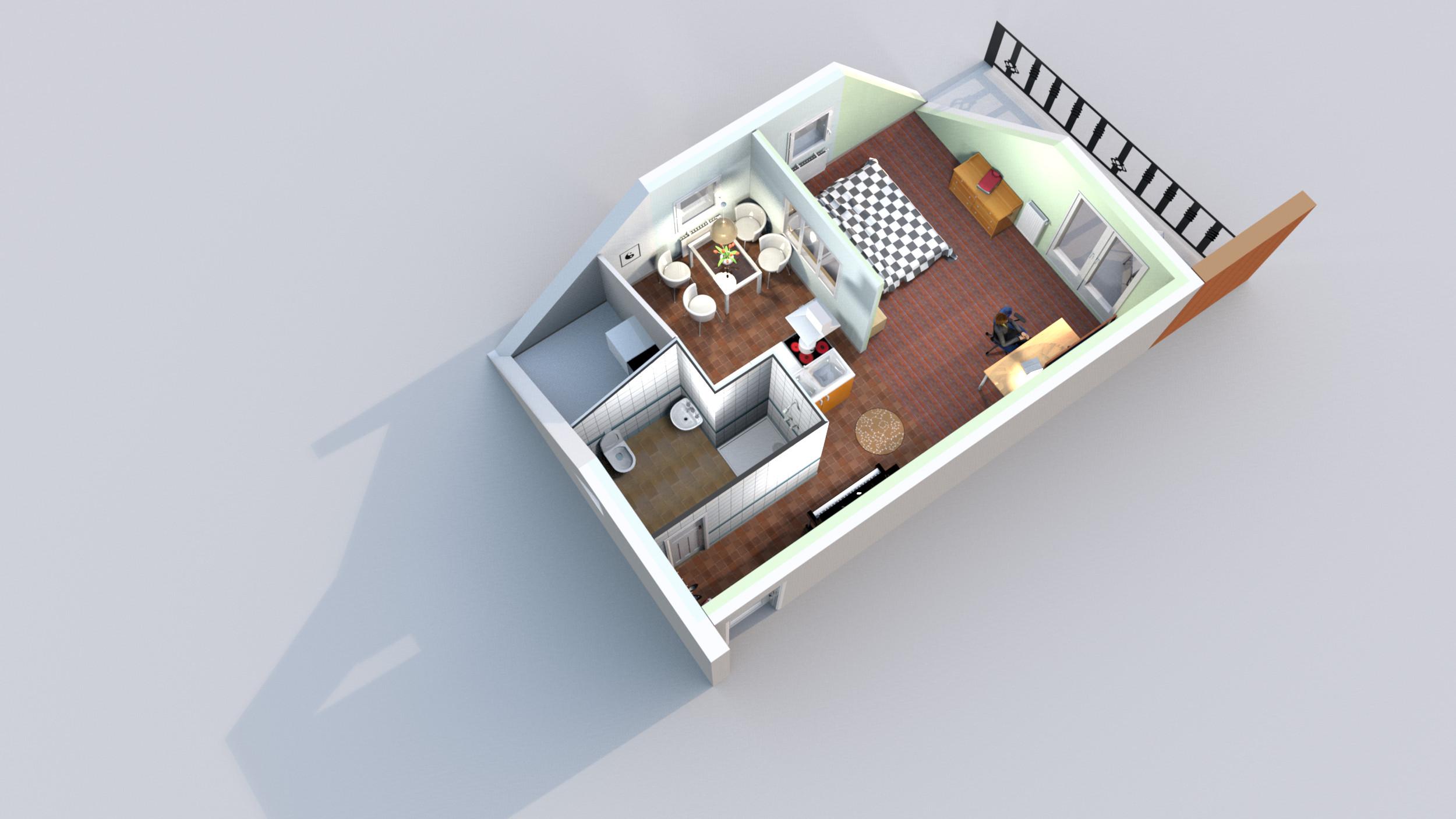 Loft auf 45 m² mit Skyview
