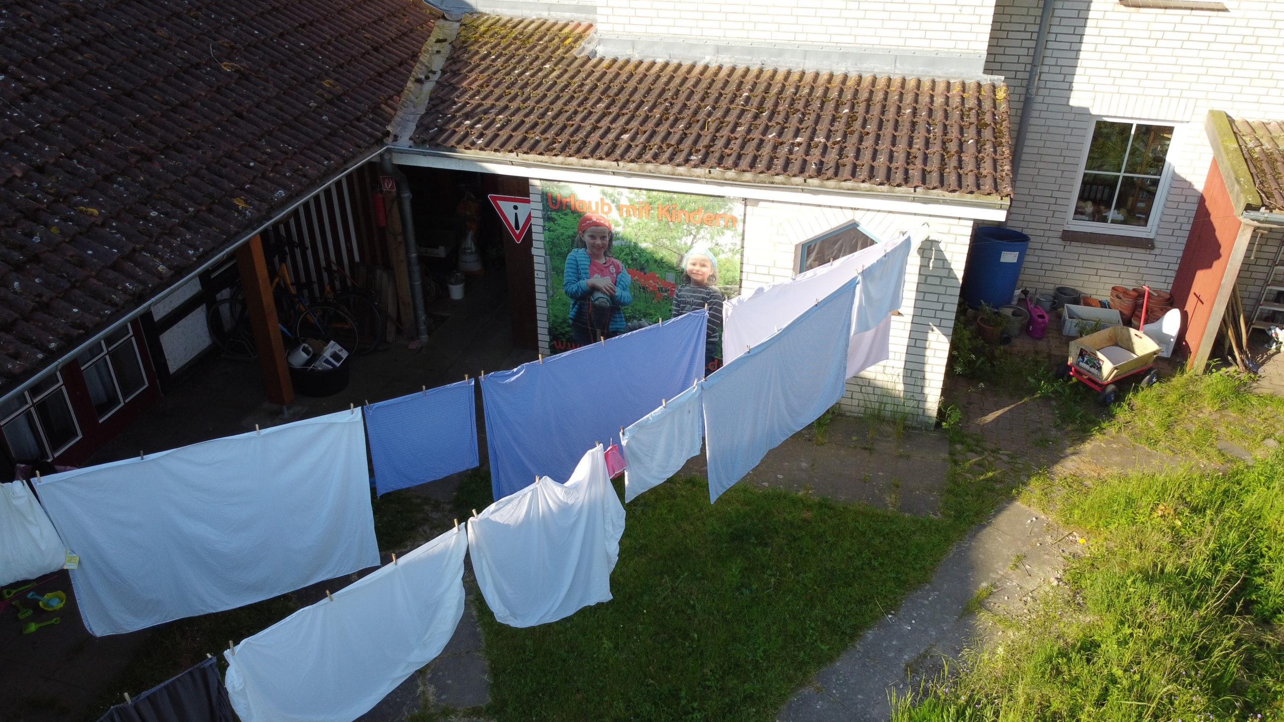 Luftgetrocknete Wäsche